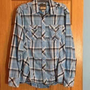BKE vintage slim fit western style shirt